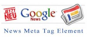 News Meta Tag Element