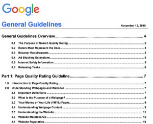 Update 2015 Google Search Quality Rating Guidelines