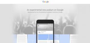 Google Podium Kurznachrichtendienst