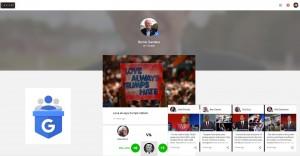 Google Podium Posts USA Präsidentschaftskandidaten